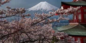 Кавагучико - вид на Фудзи