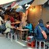 Токио. Забегаловки на рыбном рынке