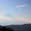 Хаконе. Вид на гору Фудзи с долины Овакудани